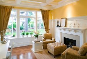 livingroom mansion house window moulding